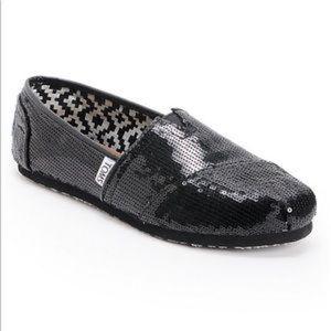 cc30d01cae44 Women Black Sequin Toms Shoes on Poshmark